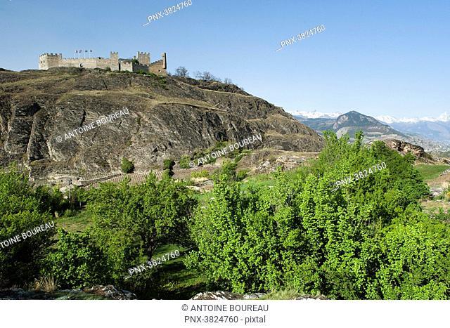 Castle of Tourbillon, Sion, Valais, Switzerland