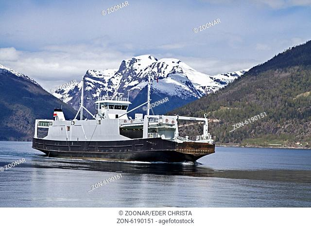 car ferry on Sognefjord