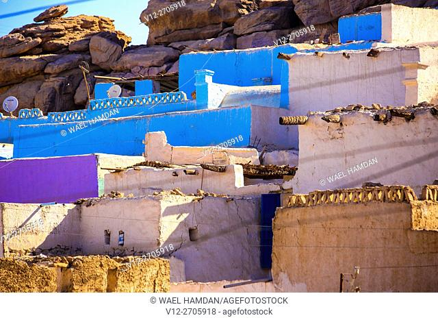 Old village in Aswan, Egypt called Shidida