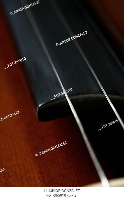Detail of a cello