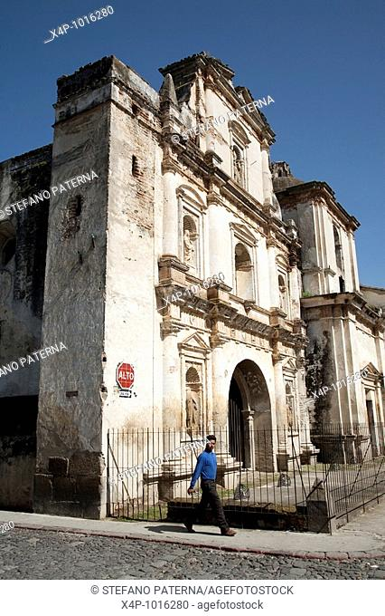 The impressive ruin of San Augustin Church, Antigua, Guatemala