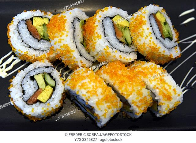 California roll or Japanese sushi roll, Japan, Asia