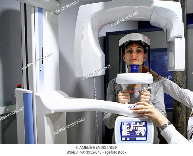 Digital medical imaging centre in Paris, France. Dental x-ray. Cone beam volumetric tomography