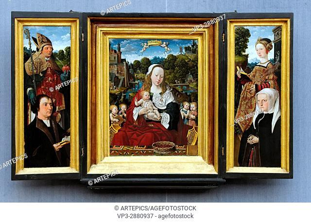 Jacob Cornelisz van Oostsanen - Triptych of Augustinus van Teylingen - 1518 - XVI th Century - Flemish School - Gemäldegalerie - Berlin