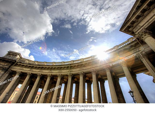 Colonnade of Kazan Cathedral, Saint Petersburg, Russia