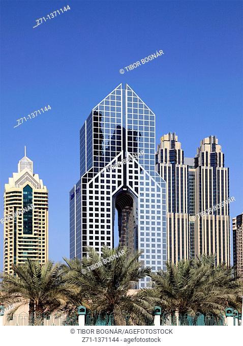 United Arab Emirates, Dubai, Dusit Thani Hotel, skyscrapers