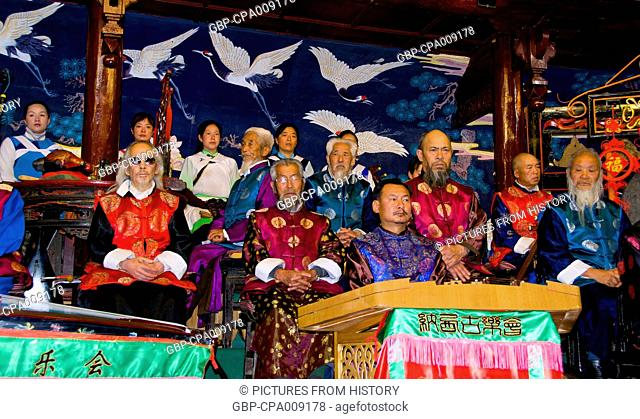 China: The Naxi (Nakhi) Folk Orchestra, Naxi Orchestra Hall, Lijiang Old Town, Yunnan Province