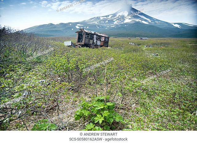 2008, Soviet and Japanese abandoned camps and airfield, debris, Matua Island, Kuril Islands, Russia, Asia