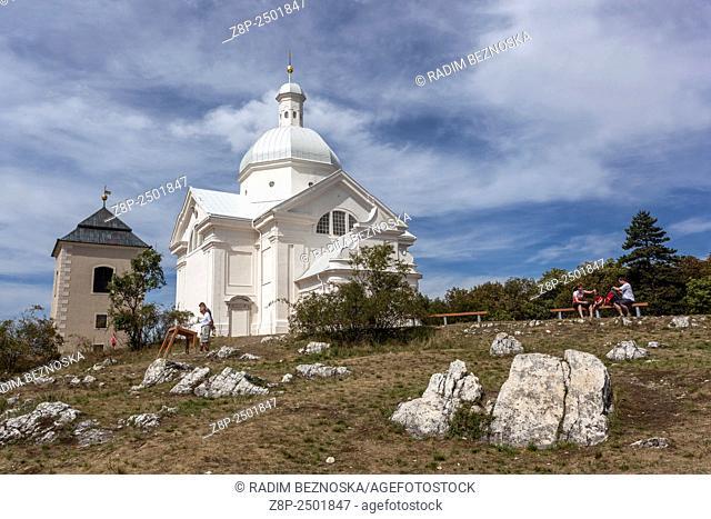 St. Sebastian Chapel on the Holy Hill (Svaty Kopecek), Mikulov, wine region, South Moravia, Czech Republic, Europe