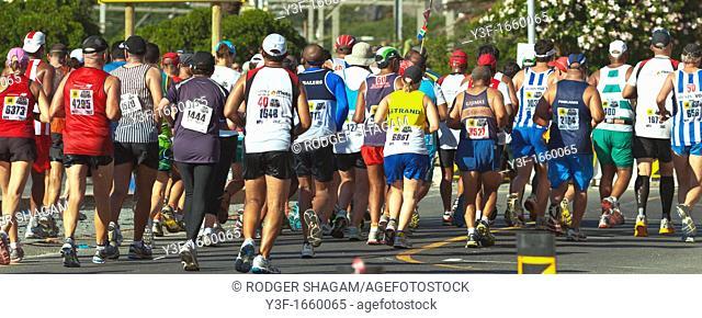 A running race - marathon,Cape Town, South Africa