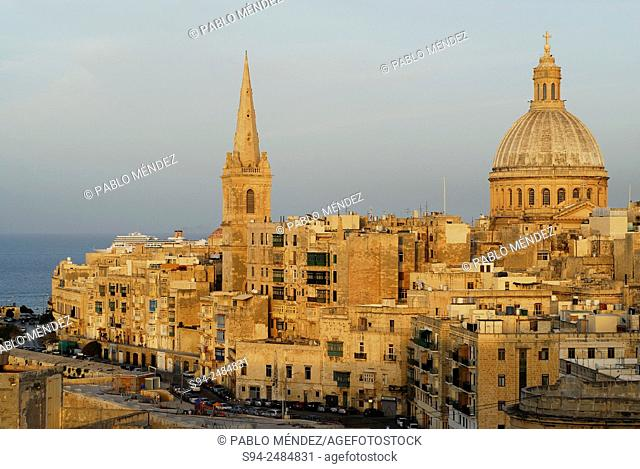 View of La Valetta from St. Andrew bastion, Malta island