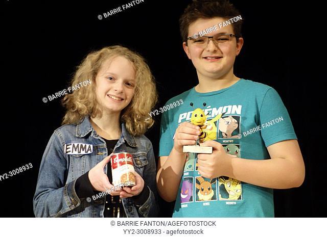 Middle School Spelling Bee Winners, Wellsville, New York, USA