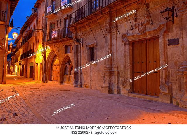 Estella, La rua street, Navarra, Way Of St. James, Navarre, Way to Santiago, Spain