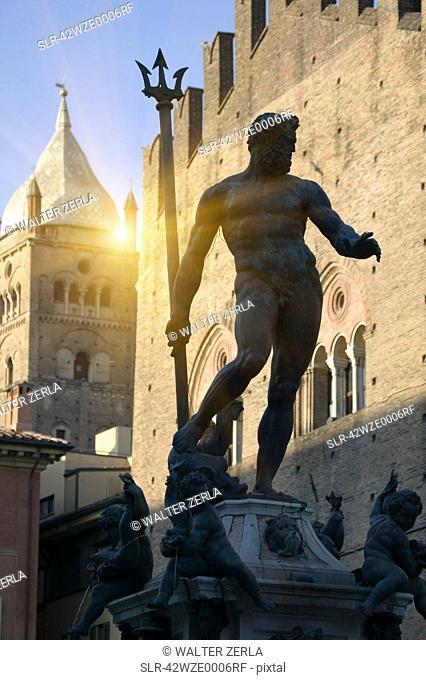 Ornate statue in town square