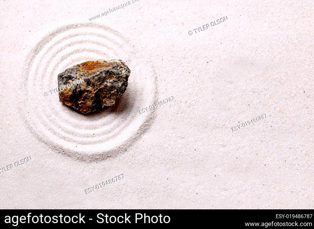 Zen Rock Garden Background
