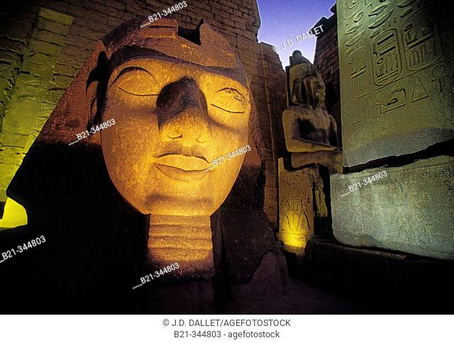 State of Ramses II. Luxor (ancient egyptian city of Thebes). East Bank of the Nile, Egypt