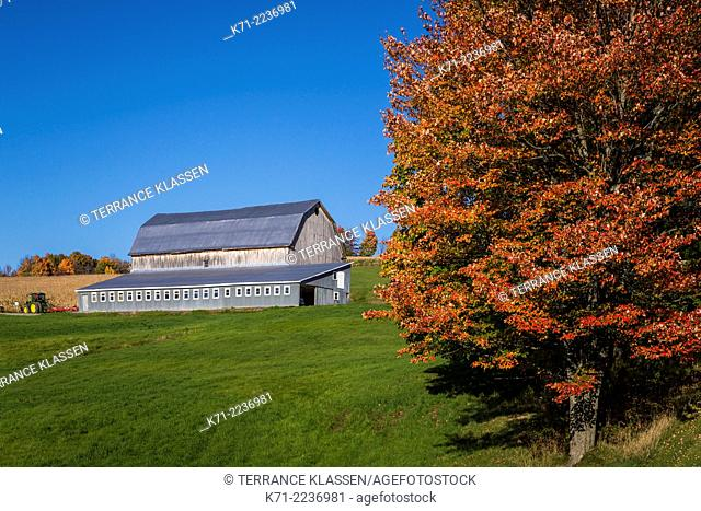 A large barn near the Eastern Townships village of Compton, Quebec, Canada
