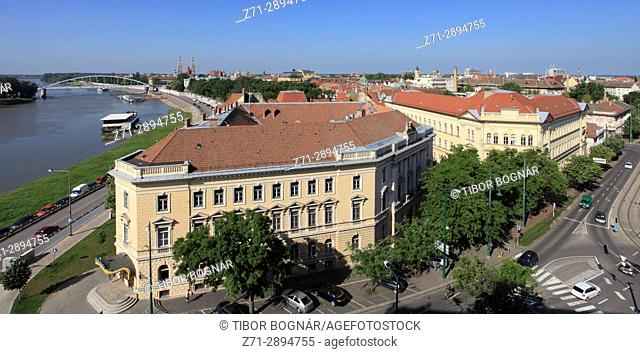 Hungary, Szeged, panoramic view, Tisza River,
