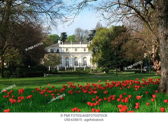 Redoute, view from Kurpark, Bonn-Bad Godesberg, Germany, 2007. Roccoco Electoral palace now used for official receptions
