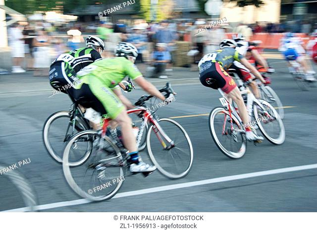 Bicycle race.Ladner B.C. Canada