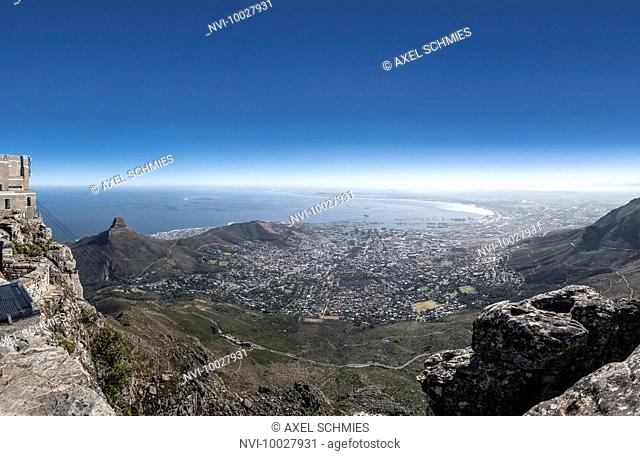 View from Table Mountain, Cape Town, Western Cape, South Africa, Africa