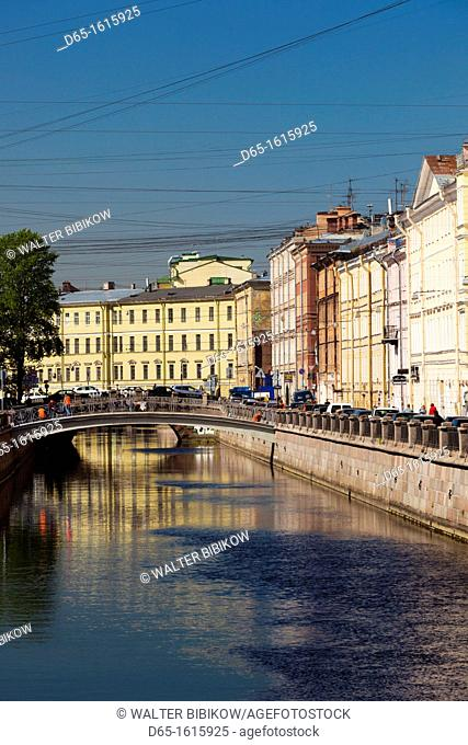 Russia, Saint Petersburg, Center, Griboedov Canal buildings