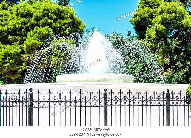 The fountain in front of Zappeion building, Athens