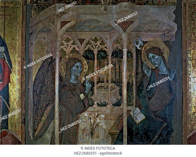 'The Annunciation', central panel of the altarpiece of 'The Annunciation and Saints John' by the?