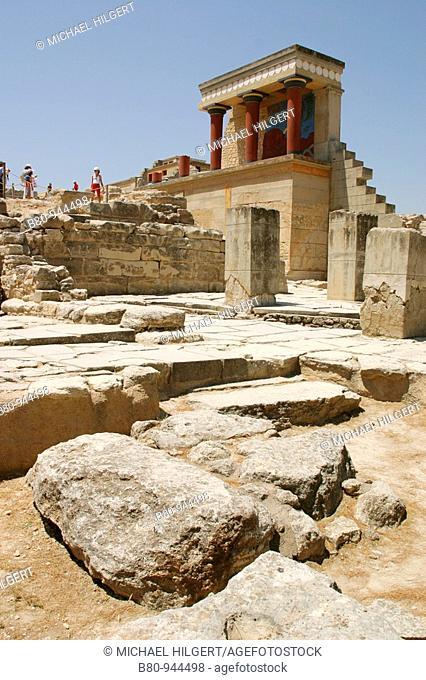 Knossos Palace, Knossos archaeological site, Iraklion, Crete, Greece