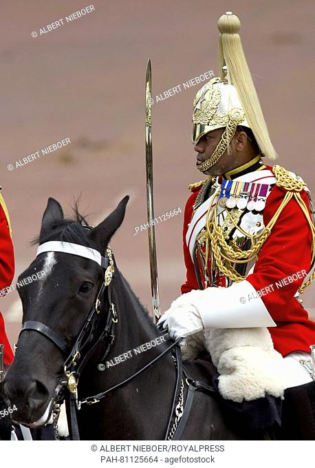 London, 11-06-2016 Trooping The Colour Trooping The Colour 2016, Parade For The Queen-s 90 th Birthday Celebrations at Buckingham Palace RPE/Albert...