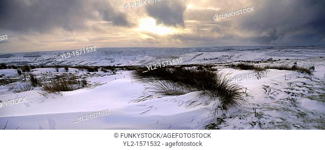 Blakey ridge looking over Farndale in the snow - North Yorks National Park