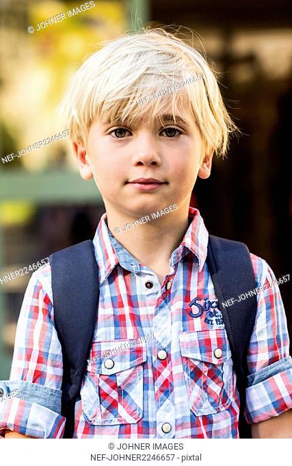 Portrait of blond boy