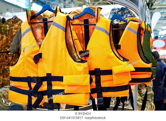 Personal flotation device as a life jacket in store