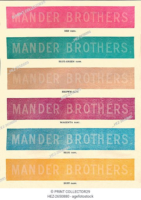 'Linotype Practise - Mander Brothers advert', 1910. Artist: Unknown