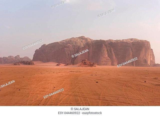 Jebel Khazali mountain in Wadi Rum desert, Jordan