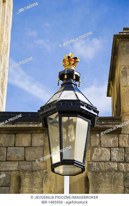 Lantern, St Alban's Street, Windsor Castle, Berkshire, England, United Kingdom, Europe