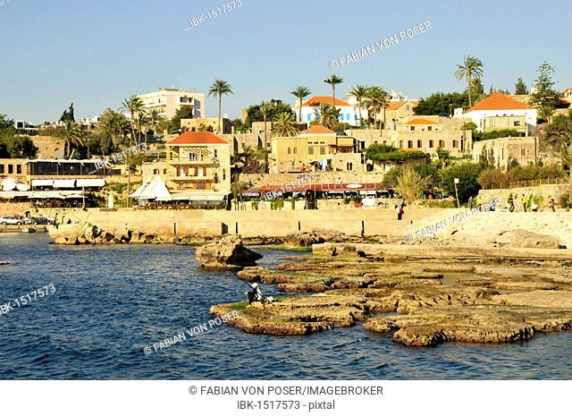 Ancient port of Jbeil, Byblos, Lebanon, Middle East, Asia