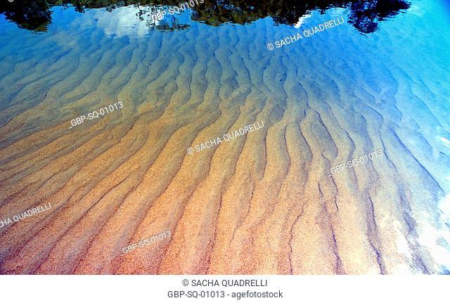 Texture, water, sand, Ilha Grande, RJ