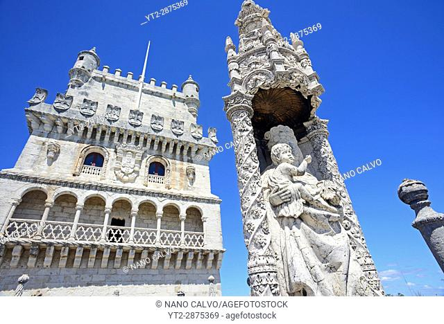 Belém Tower or Tower of St Vincent, a fortified tower located in the civil parish of Santa Maria de Belém in the municipality of Lisbon, Portugal