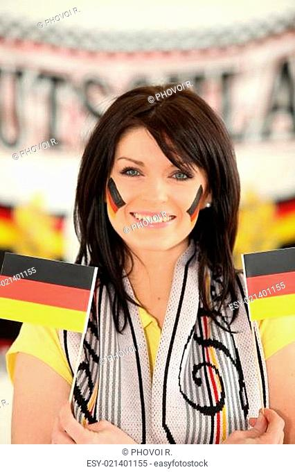Woman supporting Germany