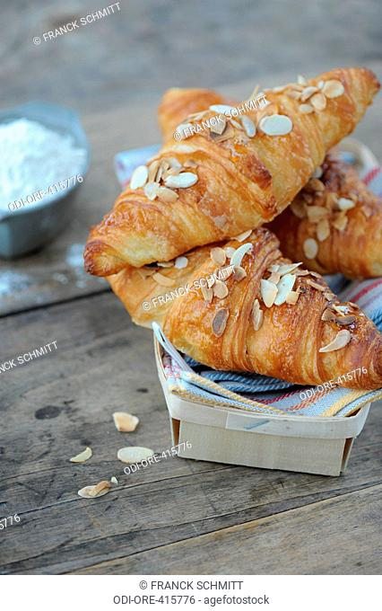 Butter, honey and almond croissants