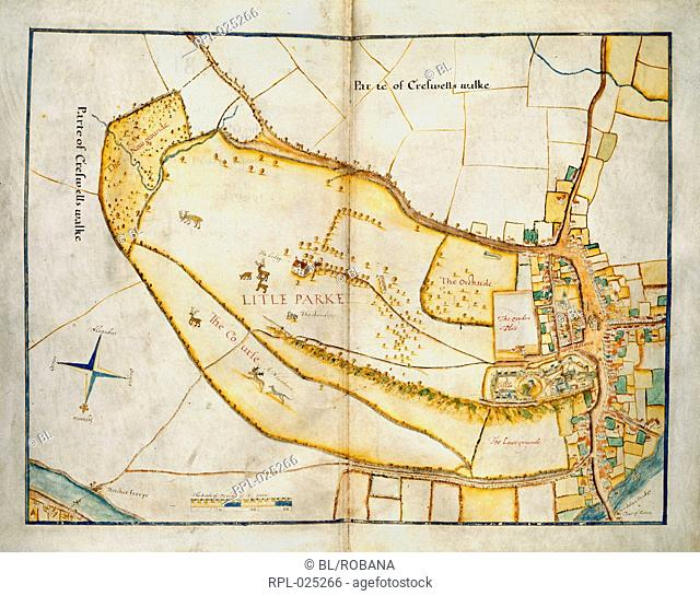 Plan of Windsor, Whole plan Plan of the Little Park, Windsor, co. Berks, including Windsor Castle, and the town of Windsor
