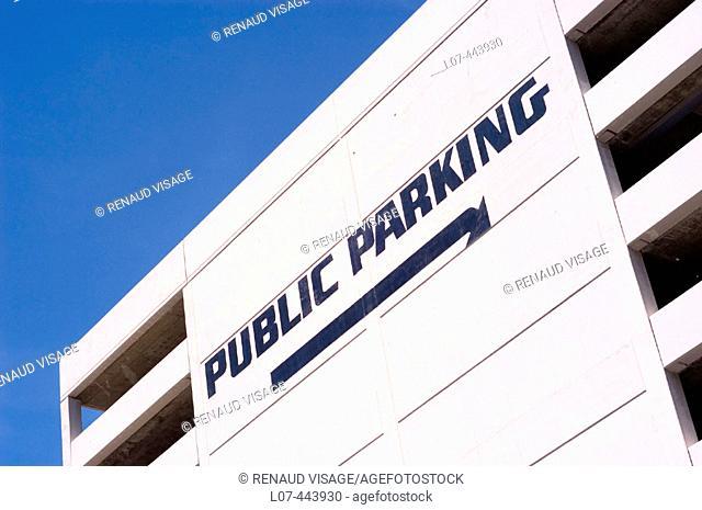 Multi-storey parking lot. San Francisco. California. United States
