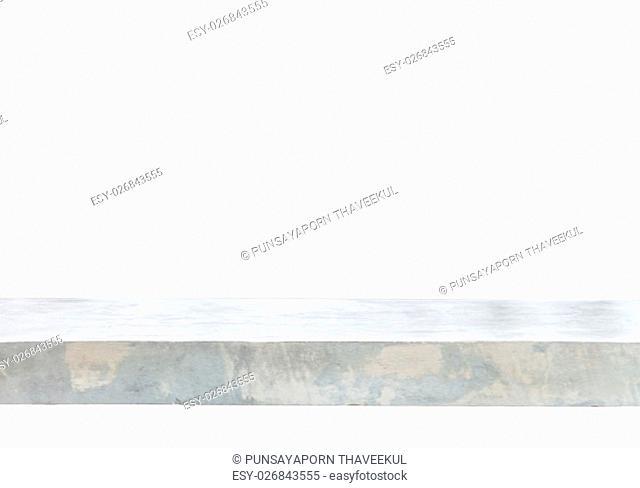 Empty concrete table top background, stock photo