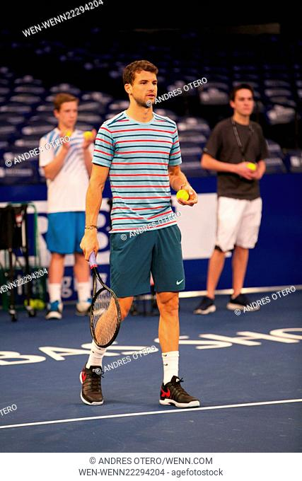 the BNP Paribas Showdown at Madison Square Garden on March 10, 2015 in New York City. Featuring: Grigor Dimitrov Where: New York, New York
