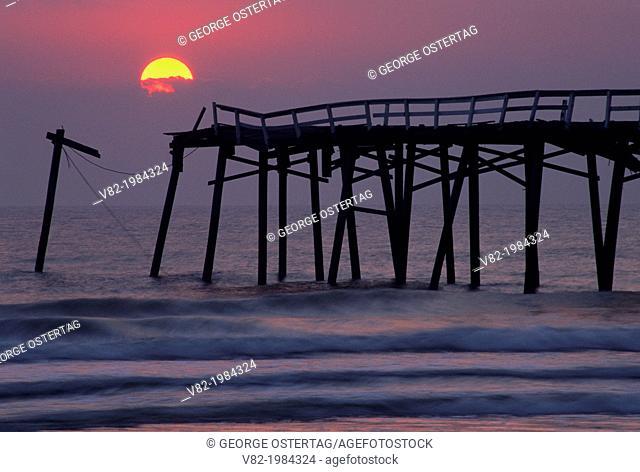 Jacksonville Beach Pier sunrise, Jacksonville Beach, Florida