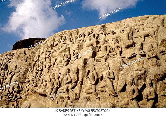 rock carving, Mahabalipuram, South India, Asia