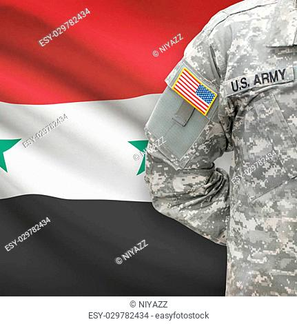 American Sol R With Flag On Background Syria