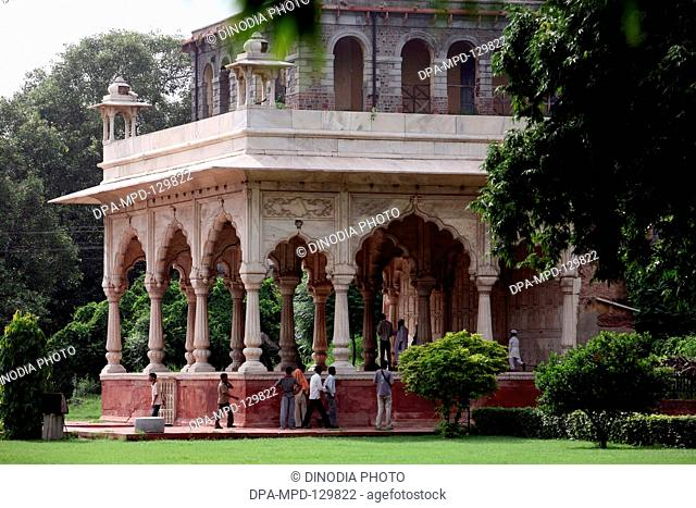 UNESCO World Heritage site the famous Delhi fort also known as Lal Qila  or Red Fort constructed in (1638-1648) used as palace by Mughal emperor Shah Jahan ;...