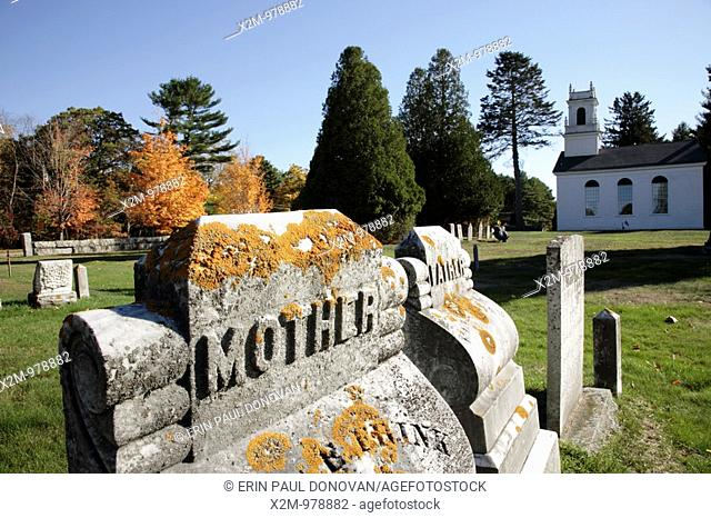 Newington Town Cemetery during the autumn months  Located in the historical district of Newington, New Hampshire USA, which is part of scenic New England
